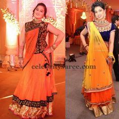 Rich Lehengas with High Neck Blouses | Saree Blouse Patterns