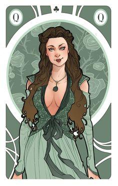 Game of Thrones' cards | Queen Margaery Tyrell by SimonaBonafiniDA.deviantart.com on @deviantART