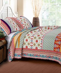 Look at this Thalia Quilt Set on #zulily today!