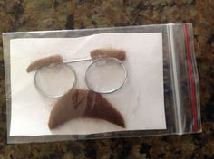 Emergency disguise kit hat craft trader. Bent wire and fun fur.