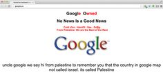Google Palestine site defaced to display political message