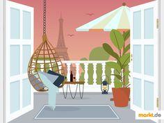 ☺️ Balkongestaltung - endlich entspannen. | markt.de #balkon #entspannen #entspannung #garten #dekoration