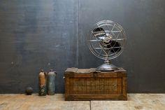 Vintage 30s Art Deco Chrome Table Fan : 20th Century Vintage Industrial Furnishings Design
