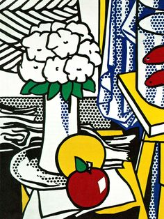 Roy Fox Lichtenstein (1923-1997) was an American pop artist. During the 1960s, along with Andy Warhol, Jasper Johns, and James Rosenquist among others, he became a leading figure in the new art movement. His work defined the premise of pop art through parody. Inspired by the comic strip, Lichtenstein produced precise compositions that documented while they parodied, often in a tongue-in-cheek manner. His work was influenced by popular advertising and the comic book style.