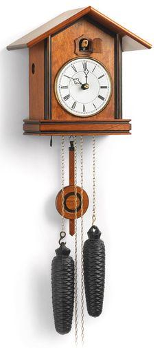 Romach und Haas BAUHAUS Cuckoo Clock with 8 Day Movement 8257