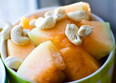Make a Breakfast Melon!  MELON in general is a very alkaline food - it is also usually rich in potassium, fiber, water (hydrating) and other nutrients. Melon has a pH of about 8.5.