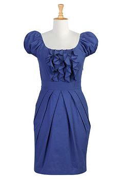 Ruffled cotton poplin dress  <3
