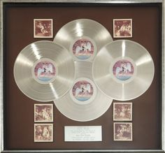 "The quadruple platinum award for Led Zeppelin's ""In Through the Out Door,"" in 1979."