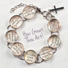 How Great Thou Art Hymn & Scripture Glass Charm by ScriptCharms, $22.00