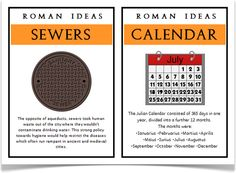Roman Ideas - Treetop Displays - Eleven posters showing a range of Roman ideas, some of which that we still use today. With an A4 title/ explanatory poster, there are 10 A5 posters showing different ideas with information to aid children's learning in this topic. Visit our website for more information and for other printable resources by clicking on the provided links. Designed by teachers for Early Years (EYFS), Key Stage 1 (KS1) and Key Stage 2 (KS2).