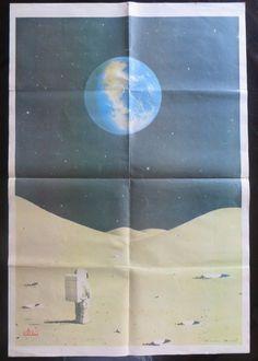 Wall Decor Bollywood magazine sun Filmy Poster unframed XL SPACE MICHALL  BLDARD #SunMagazine #Vintage