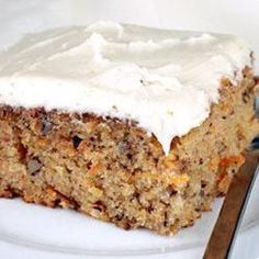 Carrot Cake.  Substitute 1 cup of brown sugar for the white, increase cinnamon to 2 1/2 teaspoons, add 1/2 teaspoon nutmeg - Jen.