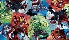 Springs Creative Marvel Avengers Blocks Cotton Woven Fabric