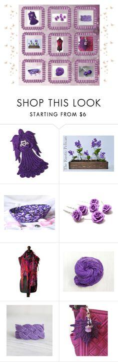 """""""Purple gifts"""" by keepsakedesignbycmm ❤ liked on Polyvore featuring etsy, accessories and decor"""
