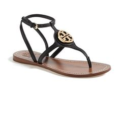 8fff8492fe08b6 Tory Burch  Leticia  Thong Sandal (350 AUD) ❤ liked on Polyvore featuring