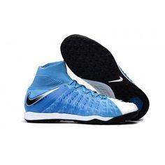 Nike HypervenomX Proximo II DF TF Fotbollsskor Konstgras Bla Svart Vit