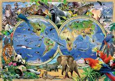 Foto Ravensburger 19385 - Welt der Wildtiere - Puzzle 1000 Teile 1