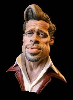 caricatures of famous people - Brad Pitt