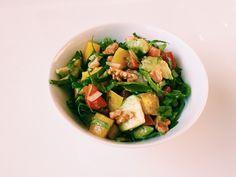 #77: Salada de couve com mandioquinha –  Ingredientes: couve manteiga fatiada mandioquinha assada abacate em pedaços vinagrete nozes  Tempero: azeite limão siciliano sal