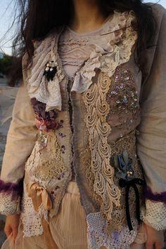Bohemian Beaded jacket Reworked Baroque jacket Alternative