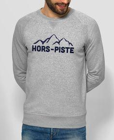 Sweat Homme hors piste Gris by Monsieur TSHIRT