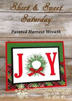 Complete instructions included in post - Stampin' Up! Painted Harvest & Large Letter Framelits handmade Christmas card -   S&SS - Create With Christy -   Christy Fulk, Independent SU! Demo
