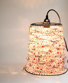 DIY: Wire Waste Basket Turned Pendant Light