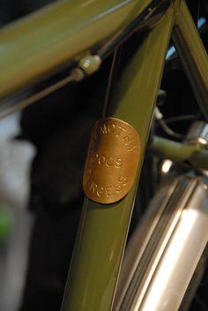 Custom Bike Headbadge / Bicycle Head Badge. $22.00, via Etsy.