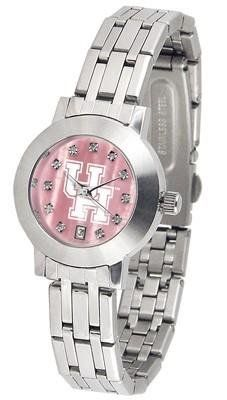 University of Houston Ladies MOP & Swarovski Crystal Watch by SunTime. $94.95. Links Make Watch Adjustable. Women. Date Display And Quartz Accurate Movement. Stainless Steel-Scratch Resistant Mineral Crystal. Officially Licensed Houston Cougars Ladies MOP & Swarovski Crystal Watch. College ladies stainless steel watch with mother of pearl face and Swarovski crystals. Watch dial is presented in a sleek, stainless steel case and bracelet. Features date display, quartz accurate m...