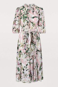 Discover the new DOLCE & GABBANA Women's collection. Satin Midi Dress, Floral Midi Dress, Floral Chiffon, Italian Pattern, Beautiful Outfits, Beautiful Clothes, Midi Dresses Online, Chic Dress, Modest Fashion