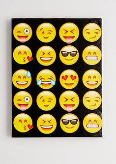 So emojinal stretched canvas canvases & wood bedroom e Rock Painting Ideas Easy, Painting For Kids, Drawing For Kids, Art For Kids, Emoji Painting, Painting & Drawing, Pinting Ideas, Emoji Room, Emoji Craft