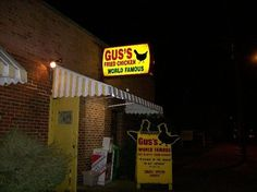 Gus' - Memphis, TN.  Get your noms here!!  I don't even like meat, but this chicken is spectacular!