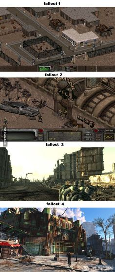 This is what I meant when I said fallout 3 and 4 look the same! Not literally the same as obvious, but it´s close. Fallout Funny, Fallout Cosplay, Fallout Game, Fallout New Vegas, Fallout Facts, First Video Game, Video Games, Vault Tec, Bethesda Games