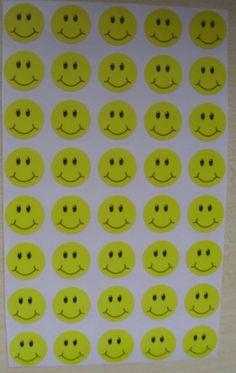 Naklejki motywacyjne kolorowe 40szt. buzki
