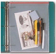 Nyla's Crafty Teaching: Ring Binder Tips for Classroom Use