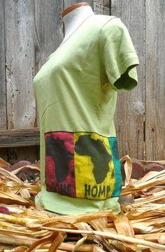 Women's organic Africa HOME batik Tshirt  Includes FREE by IOGoods, $25.00  https://www.etsy.com/listing/111783578/womens-organic-africa-home-batik-t-shirt?ref=tre-2721031555-13