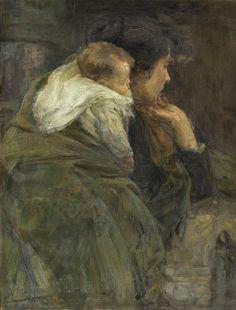 "richardott: "" Mère et Enfant, Alessandro Milesi (Italian, 1856 - 1945) """