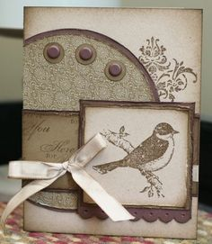 this would be nice with using the medallion stamp instead of a paper circle. with the TH bird on branch.