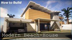 ✔ Minecraft: How to Build Modern Beach House Part 8 Minecraft Beach House, Modern Minecraft Houses, Minecraft City, Minecraft Architecture, Minecraft Blueprints, Minecraft Buildings, Minecraft Ideas, Modern Houses Pictures, Modern Dog Houses