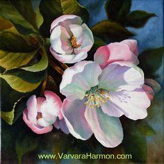 Spring Blossom - oil on canvas painting Varvara Harmon Oil Art Floral, Watercolor Flowers, Watercolor Paintings, Painting Flowers, Afrique Art, Botanical Art, Beautiful Paintings, Flower Art, Painting & Drawing