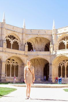 Also in Belém is the famous Jerónimos Monastery Portugal Tourism, Portugal Travel, Best Places In Portugal, Belem, Barcelona Cathedral, The Good Place, Taj Mahal, Fire, Amazing Places