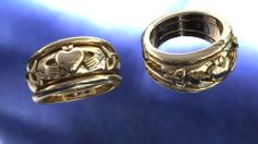 A rendering of specially designed custom yellow gold bands. www.winnipegcustomjeweler.com