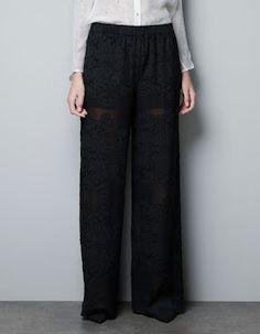 Pantaloni Zara devorè seta