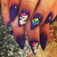 Pin for Later: Unicorn Nail Art Is the Throwback '90s Trend You Need to DIY