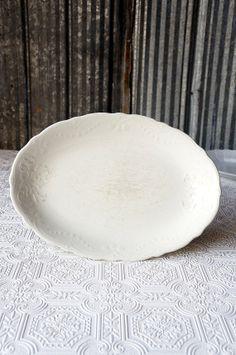 Vintage white ironstone platter by OliverandRust on Etsy, $22.00
