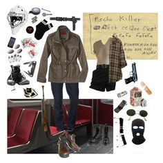 """I WANNA KISS YOU THROUGH YOUR HOCKEY MASK"" by wasteyrselfff ❤ liked on Polyvore featuring Versace, True Religion, Coffee Shop, Ray-Ban, Tim Holtz, Dr. Martens, Market, Free Press, Humör and Dorothy Perkins"