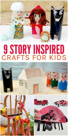 Make reading even more fun with these 9 story inspired kids crafts for creative storytelling. Kids will love these cute crafts to go along with their favorite books! Crafts For Kids To Make, Craft Activities For Kids, Book Activities, Toddler Activities, Preschool Activities, Art For Kids, Kids Crafts, Drama Activities, Drama Games