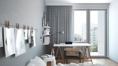 small bedroom animation and still images on Behance