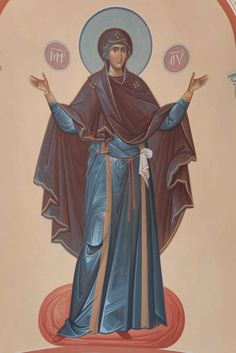 An introduction to the work of the Romanian iconographer and monk Fr. Byzantine Icons, Byzantine Art, Blessed Mother Mary, Blessed Virgin Mary, Early Christian, Christian Art, Greek Icons, Religion, Best Icons