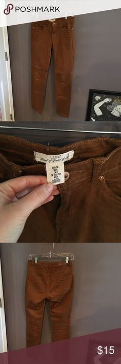 Tan//mustard color H&M jeans Really comfy and flattering! Size 8. H&M Jeans